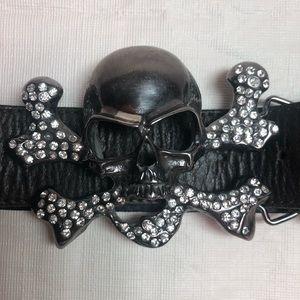 Accessories - Women's Brown Skull Belt
